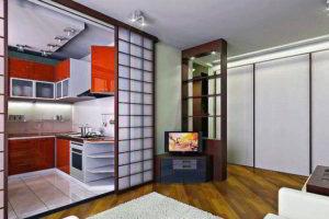 перегородки в комнате для зонирования фото 33