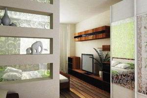 перегородки в комнате для зонирования фото 37