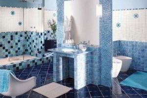 плитка мозаика для ванной комнаты дизайн фото 13