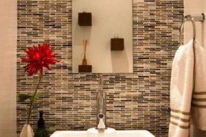плитка мозаика для ванной комнаты дизайн фото 24
