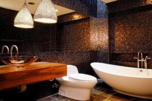 плитка мозаика для ванной комнаты дизайн фото 27