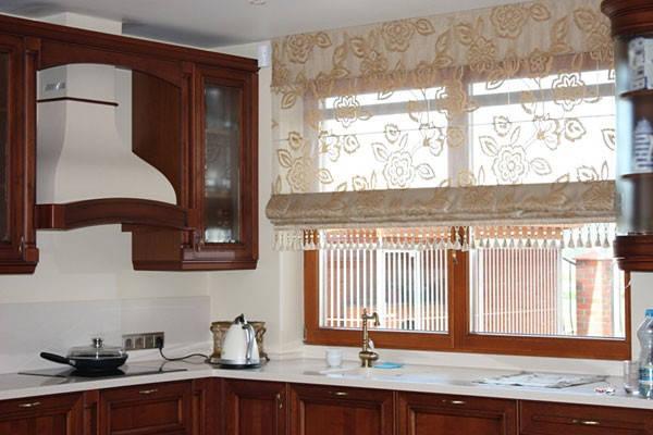 римские шторы на кухню фото 11