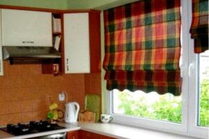 римские шторы на кухню фото 22