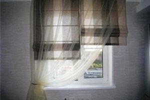 римские шторы на кухню фото 29