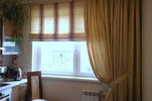 римские шторы на кухню фото 34