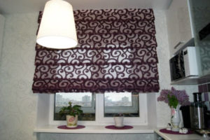 римские шторы на кухню фото 52