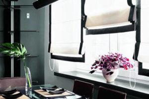 римские шторы на кухню фото 55