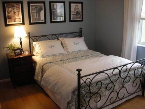 спальня в серых тонах фото 10