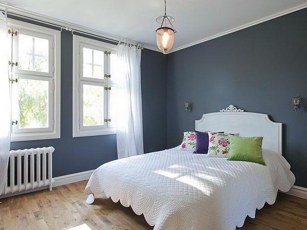 спальня в серых тонах фото 12