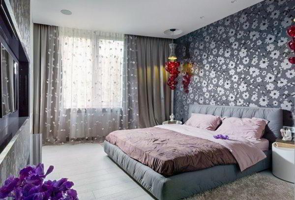 спальня в серых тонах фото 15