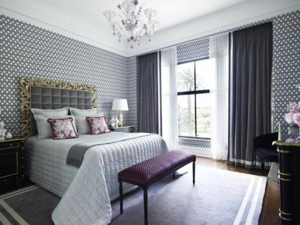 спальня в серых тонах фото 2