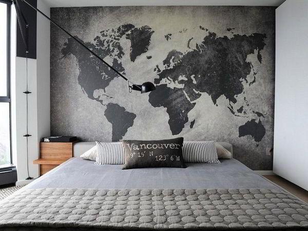 спальня в серых тонах фото 3