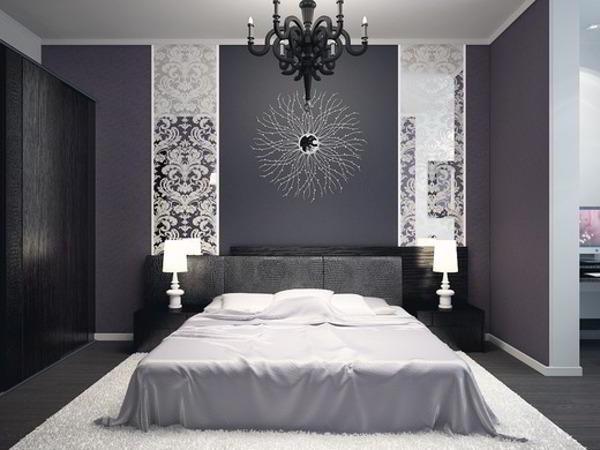 спальня в серых тонах фото 4