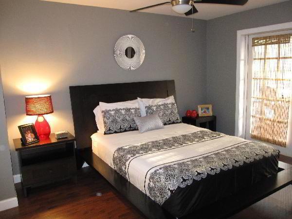 спальня в серых тонах фото 8