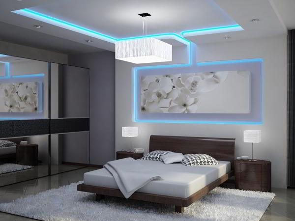 спальня в серых тонах фото 9
