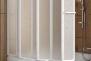 шторки в ванную фото 10