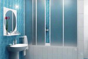 шторки в ванную фото 15