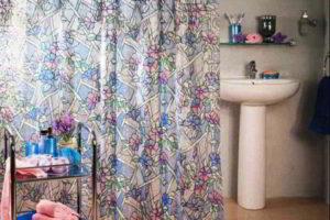 шторки в ванную фото 18