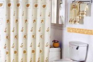 шторки в ванную фото 21