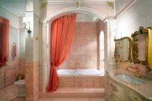 шторки в ванную фото 23