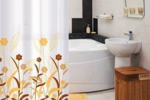 шторки в ванную фото 27