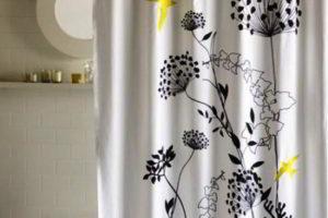 шторки в ванную фото 28