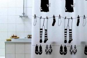 шторки в ванную фото 39