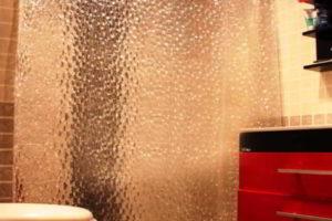шторки в ванную фото 40