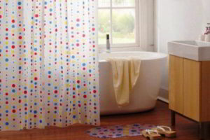шторки в ванную фото 41