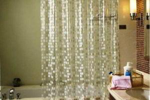 шторки в ванную фото 42