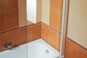 шторки в ванную фото 48