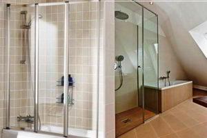 шторки в ванную фото 49