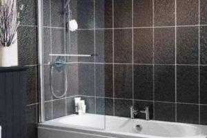 шторки в ванную фото 50