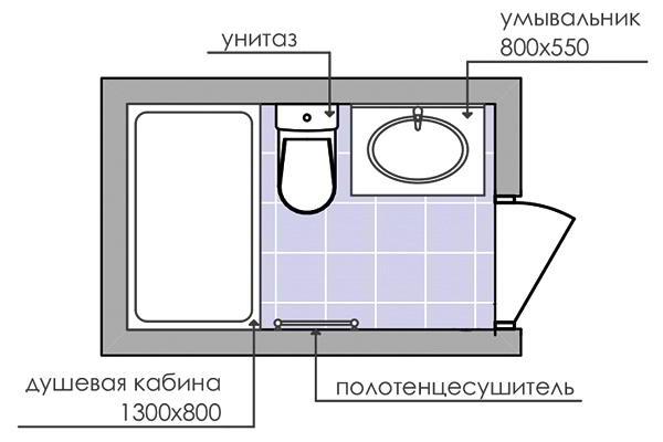 совмещенный санузел 3 кв м фото 10