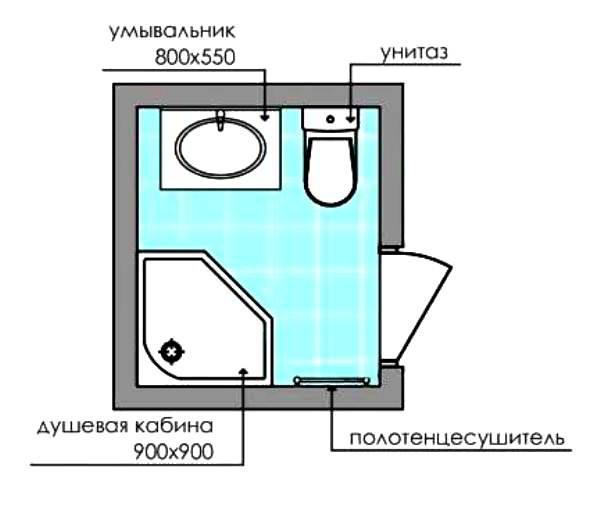 совмещенный санузел 3 кв м фото 11