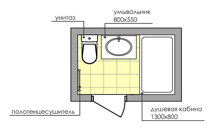 совмещенный санузел 3 кв м фото 12