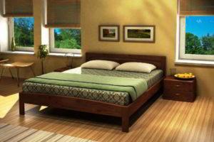 спальня из дерева фото 40