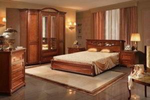 спальня из дерева фото 43