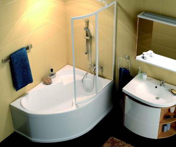 угловая ванная фото 7