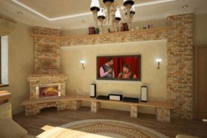 угловые камины в интерьере гостиной фото 32