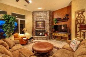 угловые камины в интерьере гостиной фото 4