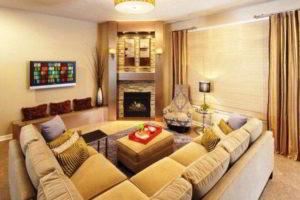 угловые камины в интерьере гостиной фото 48