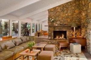 угловые камины в интерьере гостиной фото 6