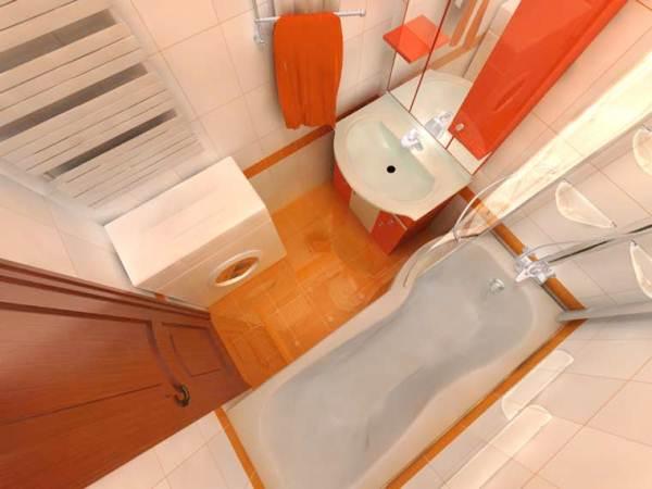 ванная 3 кв. м фото 11