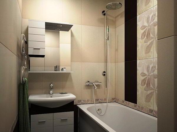 ванная 3 кв. м фото 6