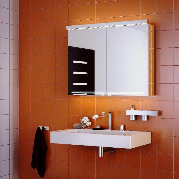 зеркальный шкаф для ванной фото 9