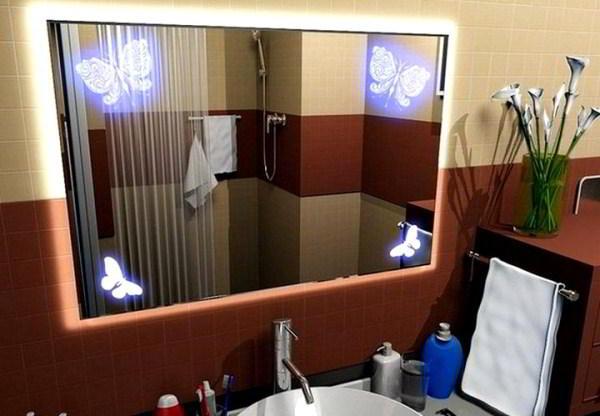 зеркало в ванную комнату с подсветкой фото 5