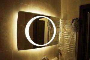 зеркало в ванную комнату с подсветкой фото 11