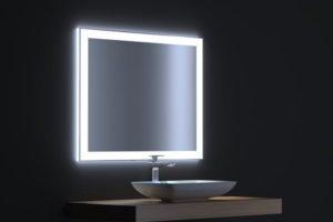 зеркало в ванную комнату с подсветкой фото 12