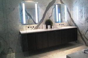зеркало в ванную комнату с подсветкой фото 18